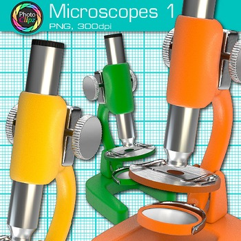 Microscope Clip Art {Biology & Chemistry Graphics for Science Resources} 1