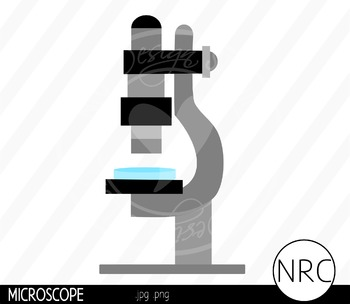 Microscope Clip Art- Commercial Use Clipart