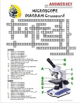 Microscope Crossword with Diagram {Editable}