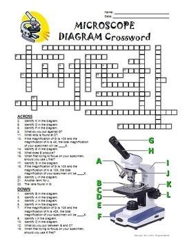 Microscope Crossword with Diagram {Editable}