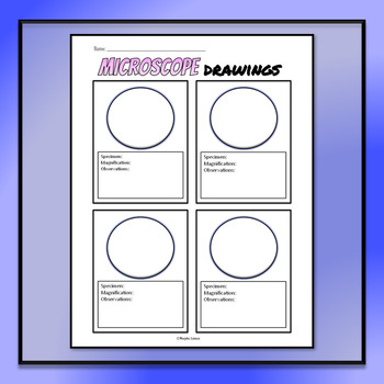Microscope Drawing Circles - FREE TEMPLATE