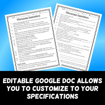 Microscope Expectations - Use Before Any Microscope Lab - FREE DOWNLOAD