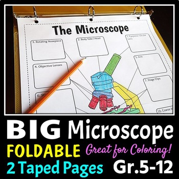 Microscope foldable big foldable for interactive notebooks or binders ccuart Choice Image
