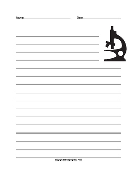Microscope Lined Writing Paper