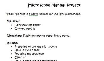 Microscope Manual Project