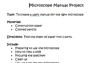 Microscope Manual Project