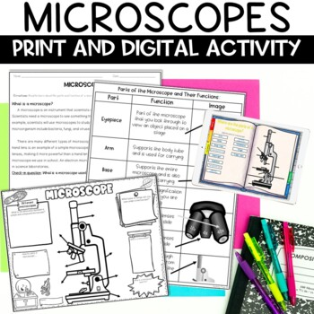 Microscope Nonfiction Article and Activity