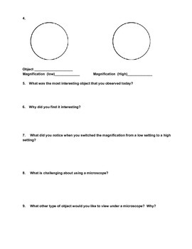 Microscope Observation Lab Sheet