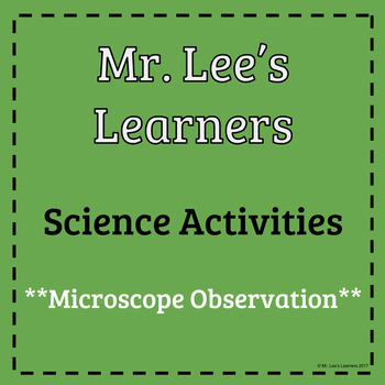 Microscope Observation Recording Sheet