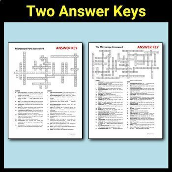 Microscope Parts - Crossword {Editable} by Tangstar ...