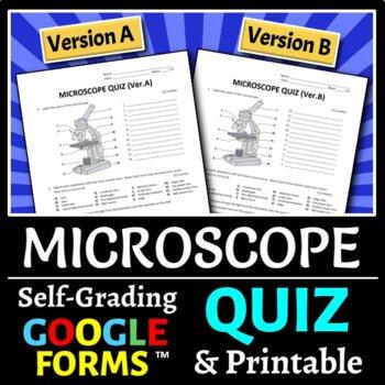Microscope Parts - Quiz {Editable}