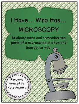 """Microscope Study Activity - """"I Have... Who Has... MICROSCOPY"""""""