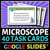 Microscope Task Cards   40 Cards in Google Slides   Distance Learning