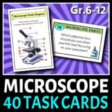 Microscope Task Cards   40 Printable Cards   PDFs & Editable Template