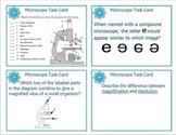 Microscope Task Cards for Middle and High School
