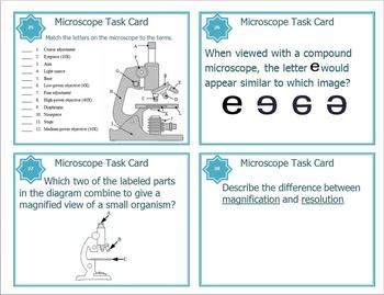 microscope task cards for middle and high school by lisa michalek. Black Bedroom Furniture Sets. Home Design Ideas