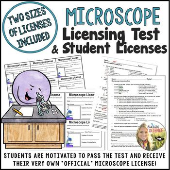 """Microscope Use """"Licensing Test"""" and Student Licenses"""