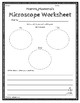 Microscope Worksheets in English & Spanish