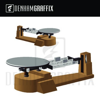 Microscope and Triple Beam Balance Clipart