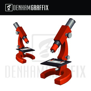 Microscope and Triple Beam Balance Clipart