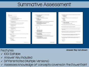 Microscopes PowerPoint, Notes & Exam (Differentiated and Editable)