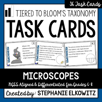 Microscopes Task Cards (Differentiated and Tiered)