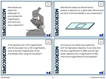 Microscopes Task Cards