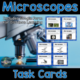 Microscopes Task Cards - Distance Learning Compatible