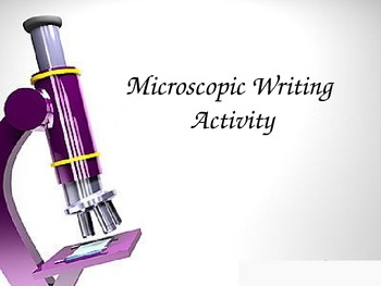 Microscopes Writing Activity
