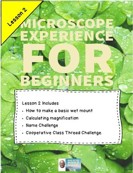 Microscopes for Beginners, Lesson 2 Wet mounts