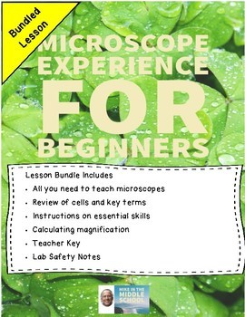 Microscopes for Beginners:  Lesson Bundle