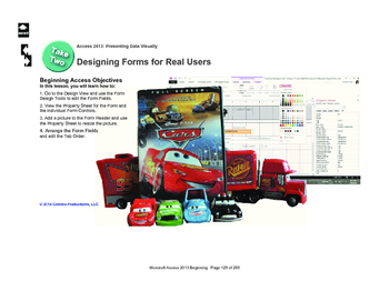 Microsoft Access 2013 Beginning: Designing Forms for Real Users