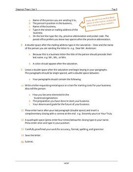 Microsoft Applications Project - Your Own Business Step 4: Letter