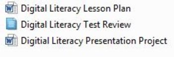 Microsoft Digital Literacy Unit Plan