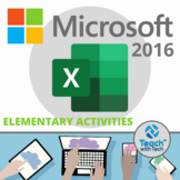 EXCEL 2016 Elementary Lessons & Activities UPDATED