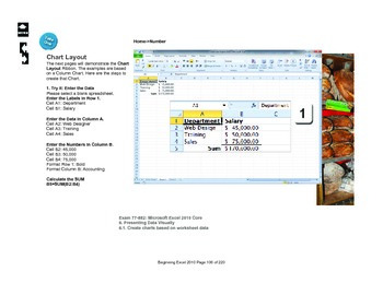 Microsoft Excel 2010 Beginning: Charts and Chart Tools