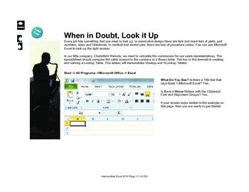 Microsoft Excel 2010 Intermediate: Using LookUp Tables
