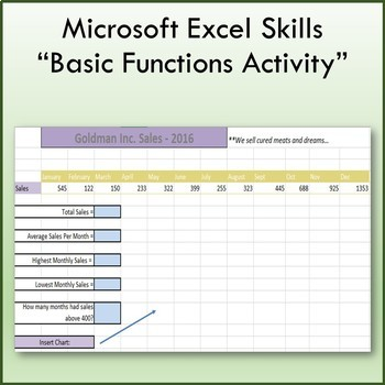 Microsoft Excel Basic Function & Formulas Lesson