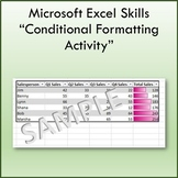 Conditional Formatting Lesson Activity for Teaching Microsoft Excel