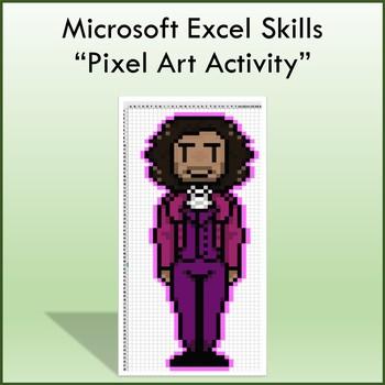 Microsoft Excel Pixel Art Lesson - Computers