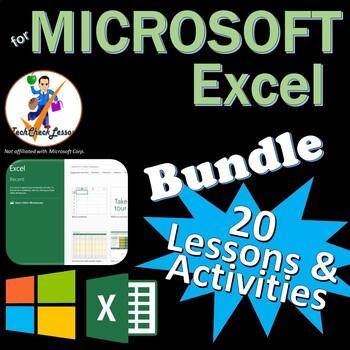 Microsoft Excel 2016 & 2013 Skills Bundle - 19 Lessons/Activities