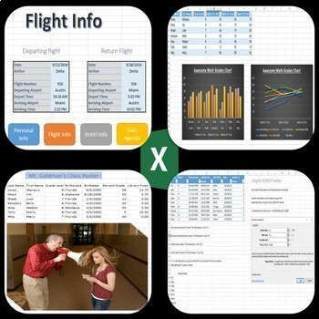 20 Lessons/Activities for Microsoft Excel 2016 & 2013 Skills Bundle