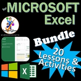 20 Lessons/Activities for Microsoft Excel Skills Bundle