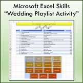 Wedding Playlist Activity for Teaching Microsoft Excel Skills