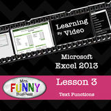 Microsoft Excel 2013 Video Tutorial - Lesson 3