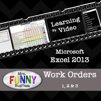 Microsoft Excel 2013 Work Orders