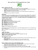 Microsoft Excel 2016 Study-Reference Guide