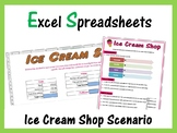 Microsoft Excel Activity - Ice Cream Shop Sales