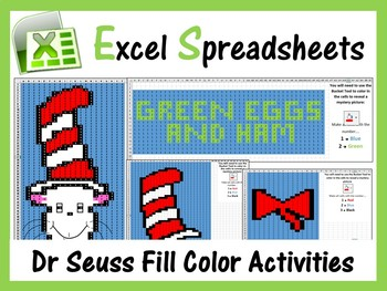 Microsoft Excel Dr Seuss Mystery Pictures Fill Color - Computer Lab