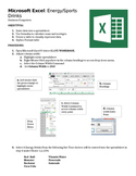 Microsoft Excel Guided Lesson 1: Energy/Sports Drinks